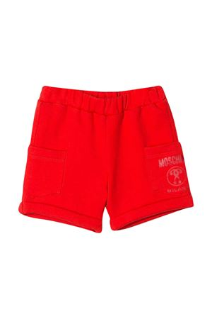 Red shorts with logo Moschino kids MOSCHINO KIDS | 30 | MUQ000LCA1550109