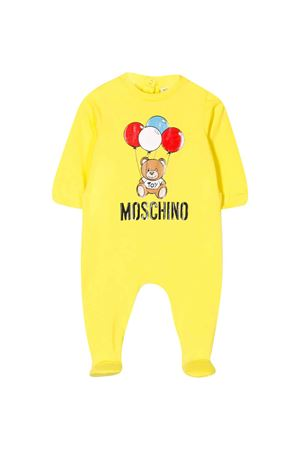 Yellow romper with central press Moschino kids MOSCHINO KIDS | 1491434083 | MUT01JLBA0051633