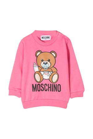 Pink sweatshirt with Toy press Moschino kids MOSCHINO KIDS | -108764232 | MXF02PLDA0051470