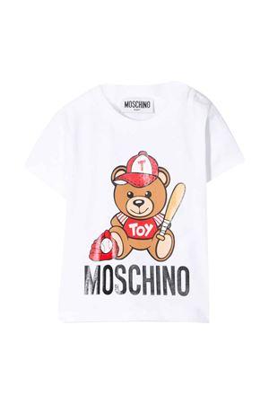 T-shirt bianca con stampa Toy Moschino kids MOSCHINO KIDS | 8 | MYM021LBA1010101
