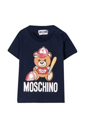 T-shirt nera con stampa Toy Moschino kids MOSCHINO KIDS | 8 | MYM021LBA1040016