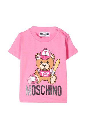T-shirt rosa con stampa Teddy bear Moschino kids MOSCHINO KIDS | 8 | MYM021LBA1051470