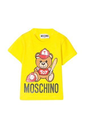 T-shirt gialla con stampa Toy Moschino kids MOSCHINO KIDS | 8 | MYM021LBA1051633