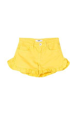 Shorts gialli teen con ruches MSGM kids MSGM KIDS | 30 | 022054020T