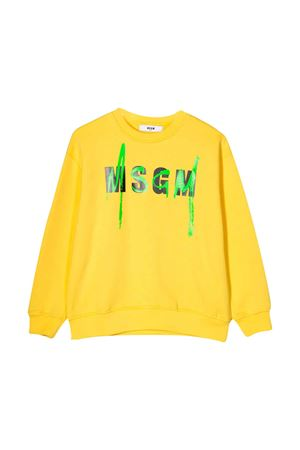 Felpa gialla teen con logo MSGM kids MSGM KIDS | -108764232 | 022079020T