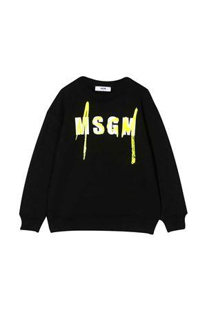 Felpa nera teen con logo MSGM kids MSGM KIDS | -108764232 | 022079110T