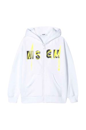 Felpa bianca con logo frontale MSGM kids MSGM KIDS | -108764232 | 022080001