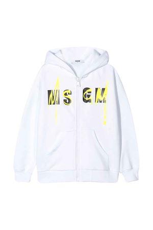 Felpa bianca teen con logo MSGM kids MSGM KIDS | -108764232 | 022080001T