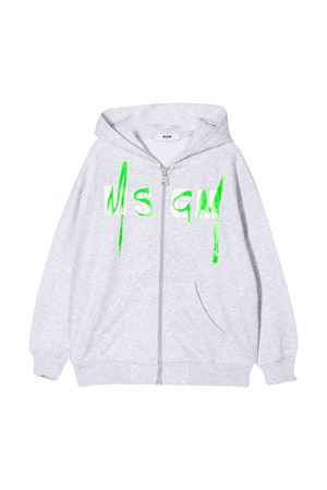 Grey sweatshirt with logo MSGM kids MSGM KIDS | -108764232 | 022080101