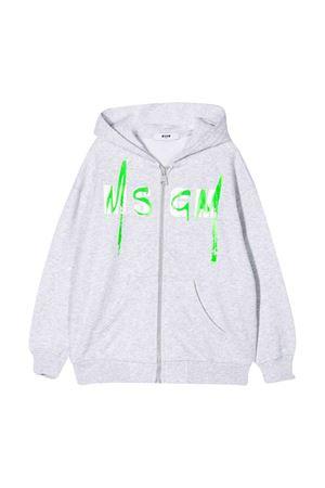 Felpa grigia teen con logo MSGM kids MSGM KIDS | -108764232 | 022080101T
