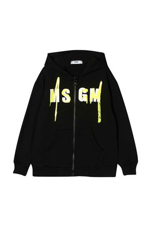 Black sweatshirt with logo MSGM kids MSGM KIDS | -108764232 | 022080110