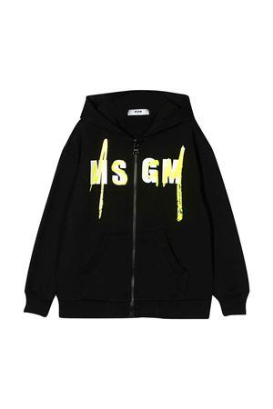 Felpa nera teen con logo MSGM kids MSGM KIDS | -108764232 | 022080110T