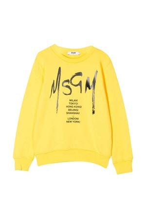 Yellow sweatshirt with logo MSGM kids MSGM KIDS | -108764232 | 022082020