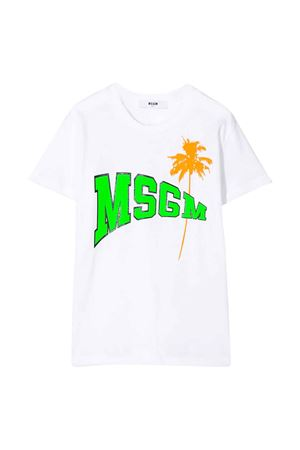 White t-shirt MSGM kids MSGM KIDS | 8 | 022086001