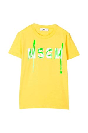Yellow T-shirt MSGM kids MSGM KIDS | 8 | 022088020
