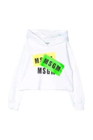 Felpa bianca MSGM kids MSGM KIDS | -108764232 | 022096001