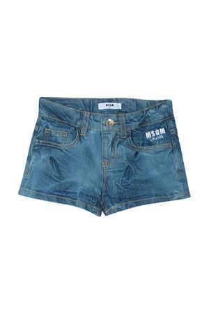 Shorts denim con logo Msgm Kids MSGM KIDS | 30 | 022105126