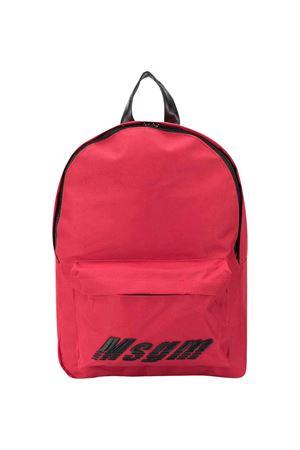 Zaino rosso con logo MSGM kids MSGM KIDS | 279895521 | 022132040
