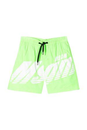 Fluo green bermuda MSGM KIDS  MSGM KIDS   85   022252169