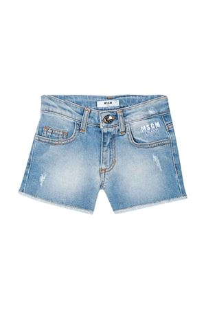 Shorts denim teen con logo MSGM kids MSGM KIDS | 30 | 022408126T
