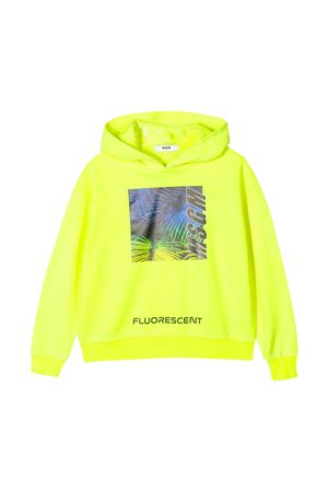 Yellow fluo hoodie with frontal press MSGM kids MSGM KIDS | -108764232 | 022420FL023