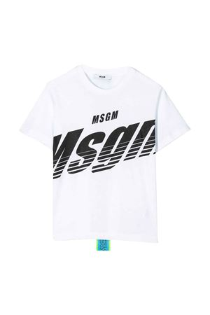 White t-shirt with black press and back application Msgm kids MSGM KIDS | 8 | 022428001
