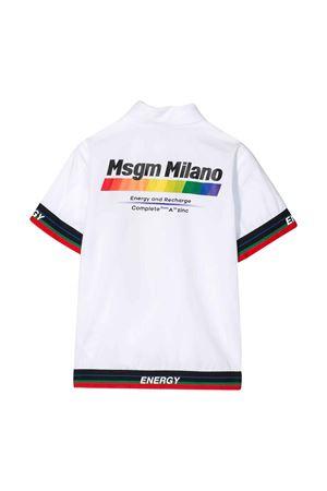 White shirt with multicolor press Msgm kids MSGM KIDS | 5032334 | 022447001