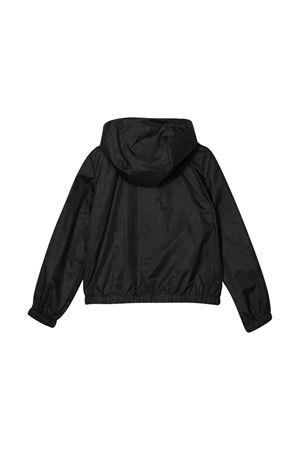 Giubbino nero con stampa , zip e cappuccio Msgm kids MSGM KIDS | 13 | 022448110