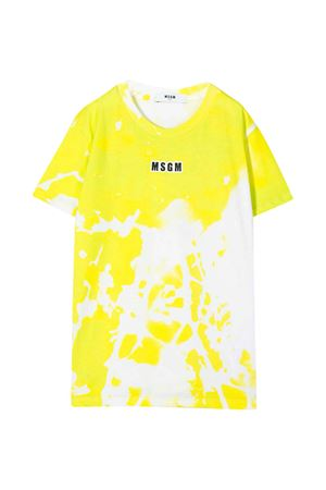T-shirt gialla GCDS kids MSGM KIDS | 8 | 022614023