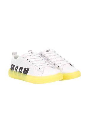 Scarpe teen bianche con suola gialla Msgm Kids MSGM KIDS | 12 | 022764001/30T