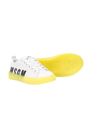 White teen shoes with yellow sole Msgm Kids MSGM KIDS | 12 | 022764001/30T