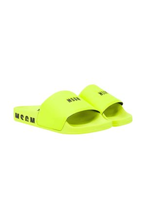 Yellow fluo sandals with logo MSGM kids MSGM KIDS | 11041766 | 022767023