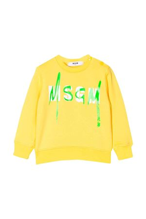 Yellow sweatshirt MSGM kids baby  MSGM KIDS | -108764232 | 023924020