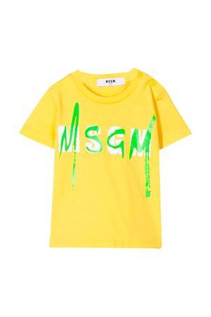 T-shirt gialla MSGM kids MSGM KIDS | 8 | 023925020