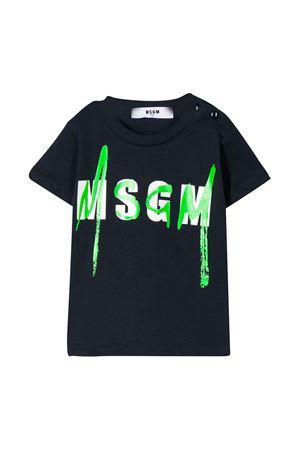 T-shirt blu neonato con logo MSGM kids MSGM KIDS | 8 | 023925060