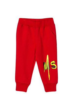 Pantaloni sportivi rossi con logo MSGM kids MSGM KIDS | 9 | 023926040