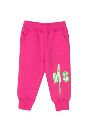 Fuchsia sport trousers with logo MSGM kids MSGM KIDS | 9 | 023926044