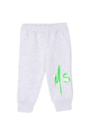 Grey sport trousers with logo MSGM kids MSGM KIDS | 9 | 023926101