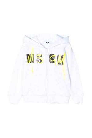 Felpa bianca MSGM kids MSGM KIDS | -108764232 | 023927001