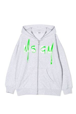 Grey hoodie with logo MSGM kids MSGM KIDS | -108764232 | 023927101