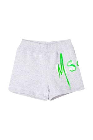 Shorts grigi con logo MSGM kids MSGM KIDS | 30 | 023933101