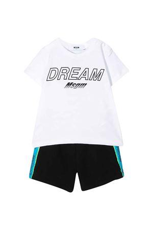 Completo bianco t-shirt e shorts MSGM kids MSGM KIDS | 42 | 023998001/01