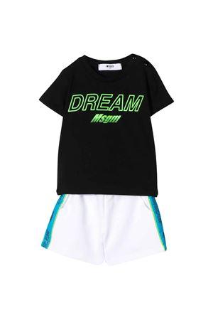 Completo nero t-shirt e shorts MSGM kids MSGM KIDS | 42 | 023998110/09