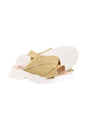 Golden teen slides with glitters N°21 N°21 KIDS | 12 | 63971VAR1T