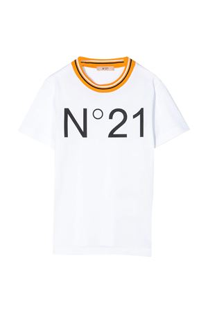 White t-shirt with logo N21 kids N°21 KIDS   8   N2146HN00320N100