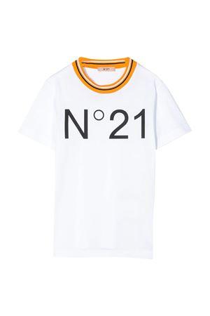 White teen t-shirt with logo N21 kids N°21 KIDS   8   N2146HN00320N100T