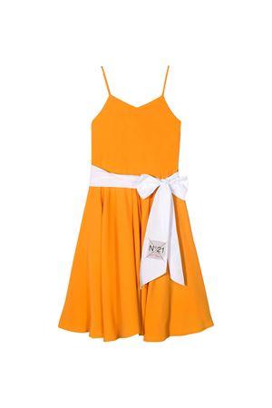 Abito arancione con fascia bianca N21 kids N°21 KIDS | 11 | N2148KN00540N201