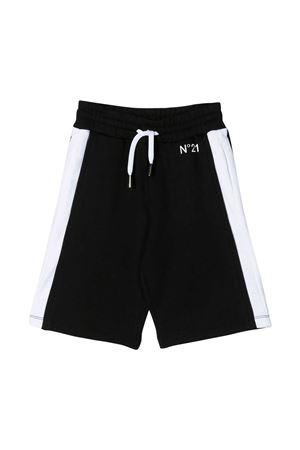 Shorts neri con bande laterali bianche N21 kids N°21 KIDS | 30 | N2149MN00050N900