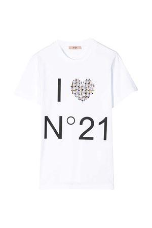 White  t-shirt N ° 21 kids teen  N°21 KIDS   8   N214AAN00030N100T