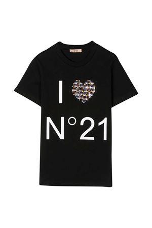 Black T-shirt N ° 21 kids teen  N°21 KIDS   8   N214AAN00030N900T